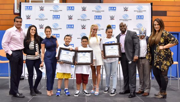 WWE hosts a Be a STAR rally during SummerSlam Week: photos