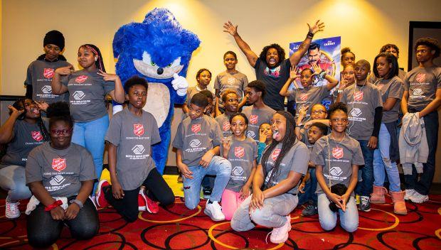 "Xavier Woods hosts ""Sonic the Hedgehog"" screening with Boys & Girls Clubs of Atlanta: photos"