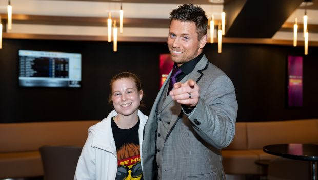 The Miz grants a wish for Kaitlyn in Philadelphia: photos