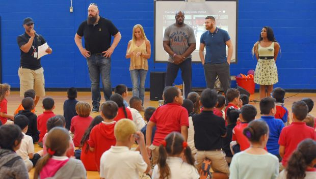 WWE Superstars visit the Englewood Neighborhood Center in Orlando: photos