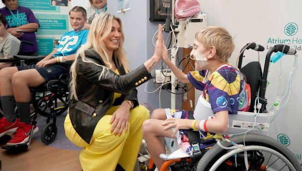 Superstars visit children at Levine Children's Hospital in Charlotte: photos