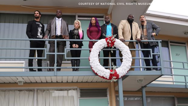 Superstars visit the National Civil Rights Museum in honor of Martin Luther King Jr. Day: photos