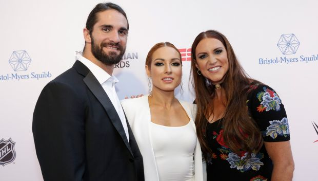 Stephanie McMahon, Becky Lynch and Seth Rollins take part in the 2019 ESPN Sports Humanitarian Awards: photos