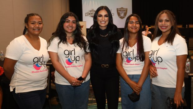WWE hosts a Girl Up Sports for a Purpose Forum and backpack build during SummerSlam Week in Las Vegas: photos