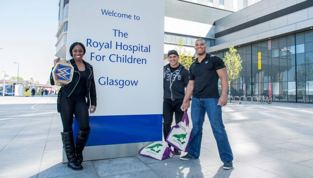 WWE Superstars visit the Royal Hospital for Children in Glasgow: photos