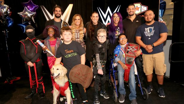 Kid Superstars reveal their WWE personas at Children's Medical Center Dallas: photos