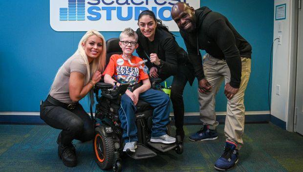 Superstars visit Boston Children's Hospital: photos