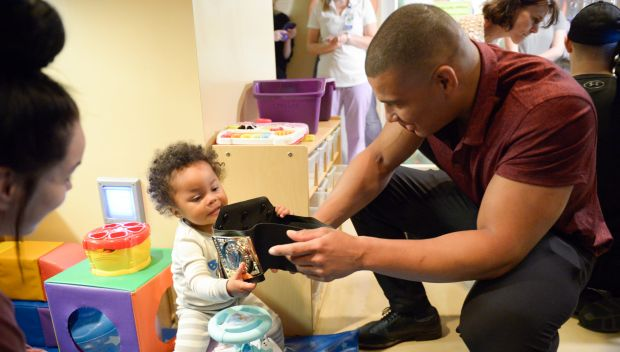 Superstars visit Ochsner Health Center For Children during WrestleMania Week: photos