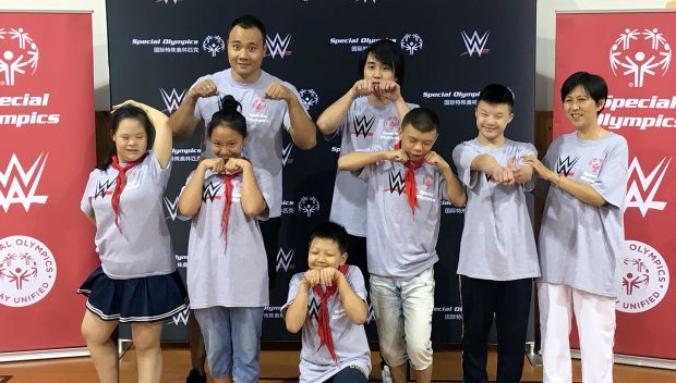 WWE Superstars support Special Olympics' Play Unified campaign in Shanghai