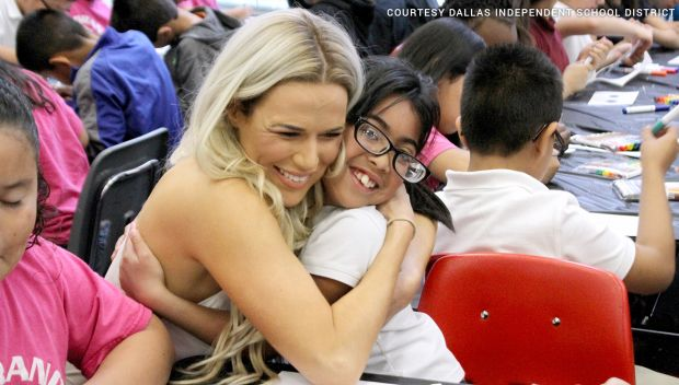 WWE and First Book host a WrestleMania Reading Celebration in Dallas: photos