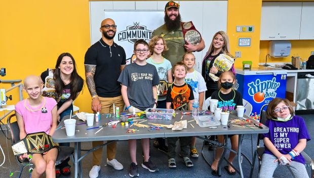 Superstars visit kids at Johns Hopkins Children's Center in Baltimore: photos