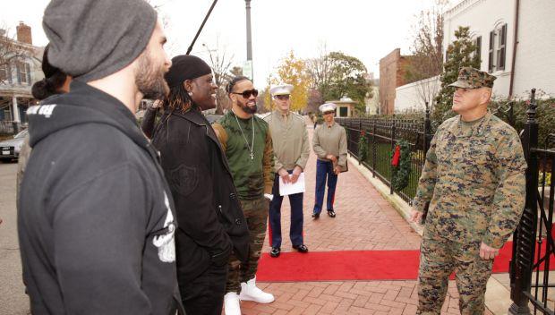 WWE Superstars meet the Commandant of the Marine Corps: photos