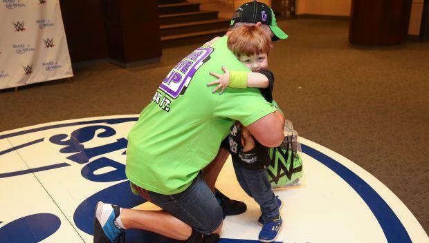 John Cena grants Katie's wish in Philadelphia: photos