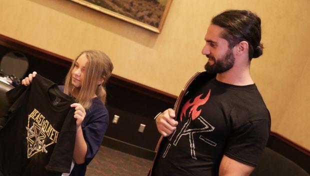 Seth Rollins grants Lizzy's wish in LA: photos