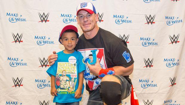 John Cena grants Isaiah's wish in Detroit: photos