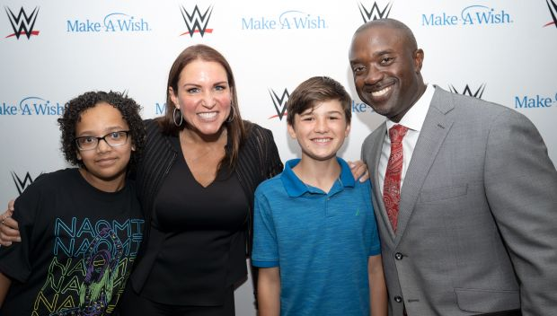 """Stephanie McMahon and Triple H host ESPN """"My Wish"""" viewing party at WWE Headquarters: photos"""