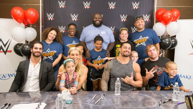 Superstars grant wishes before SummerSlam: photos