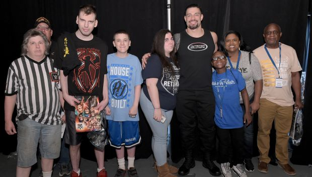 Roman Reigns grants wishes for Sean and Justin at MSG: photos