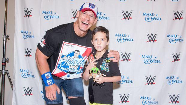 John Cena grants Noah's wish in Birmingham: photos