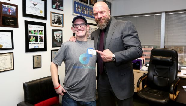 Triple H grants John's wish at WWE HQ: photos