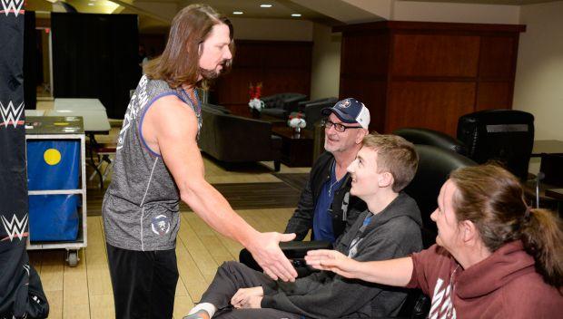 WWE Champion AJ Styles grants a wish in Houston: photos