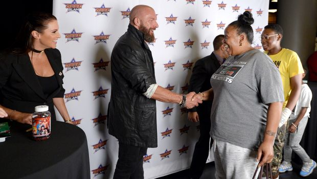 Triple H and Stephanie McMahon appear at meet and greet to benefit Connor's Cure: photos