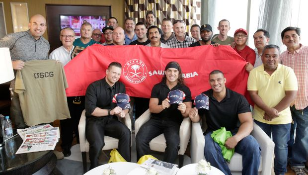 WWE Superstars meet U.S. military members stationed in Riyadh, Saudi Arabia: photos