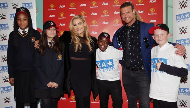 Dolph Ziggler and Natalya host a Be a STAR rally in Manchester: photos