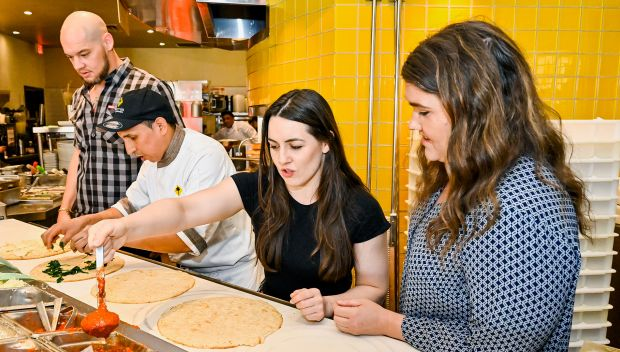 """Baron Corbin and Nikki Cross host """"Pizza with a Purpose"""" to benefit Connor's Cure: photos"""