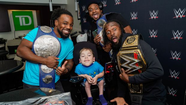 The New Day grant a wish for Morgan in Toronto: photos