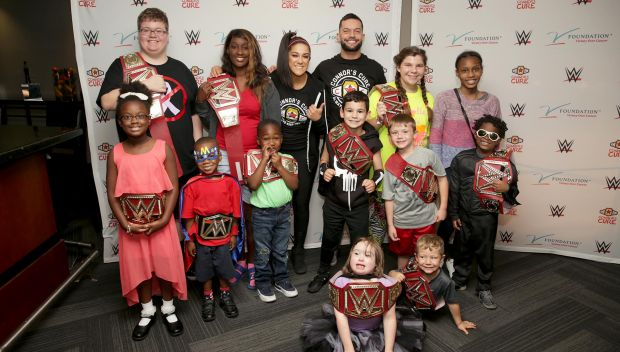Connor's Cure Kid Superstars meet WWE Superstars before Raw: photos