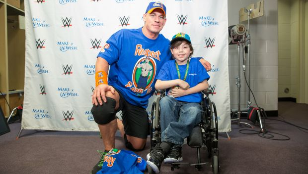 John Cena meets Angel before SmackDown LIVE: photos