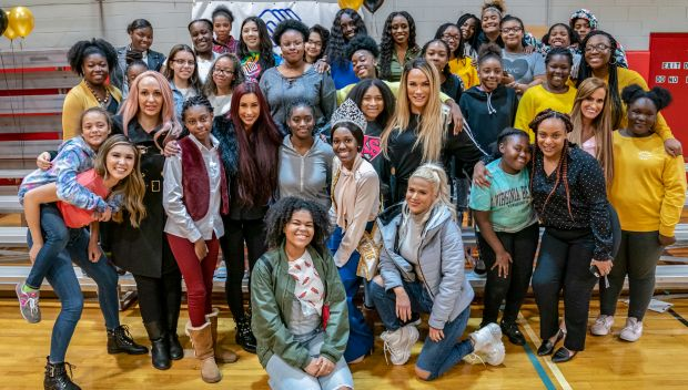 Superstars host a She's Crowned event at Boys & Girls Club of Stamford: photos