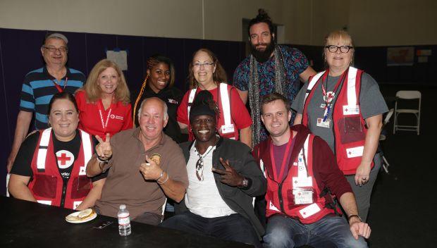 WWE Superstars visit a Red Cross Shelter during Survivor Series weekend: photos