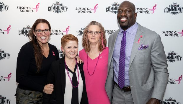 WWE and Susan G. Komen honor survivors and supporters at WWE HQ: photos