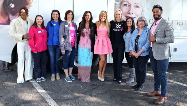 WWE and Susan G. Komen host Mobile Health Unit during WrestleMania Week: photos