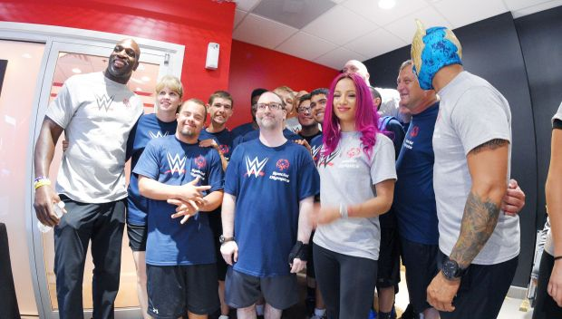 WWE & Special Olympics International host Unified Workout at WWE Performance Center
