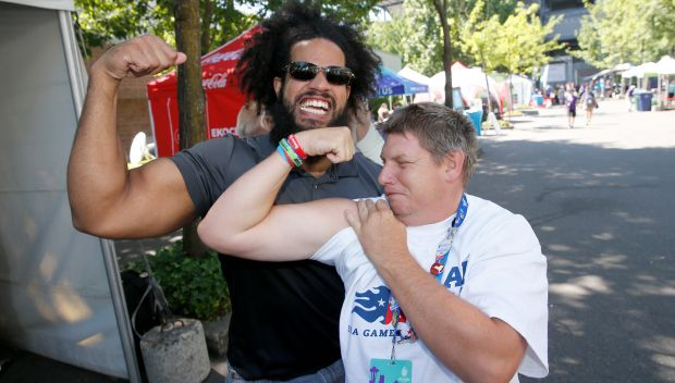 No Way Jose supports day 5 of Special Olympics USA Games: photos