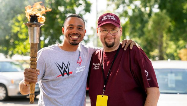 WWE employees volunteer at the Special Olympics Connecticut 2019 Fall Unified Bocce Tournament: photos