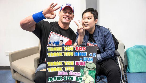 John Cena grants WWE's first wish in China: photos