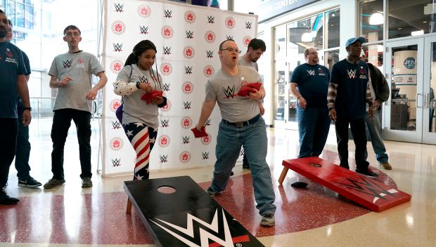 WWE & Special Olympics host Unified Cornhole Experience in Charlotte, NC: photos