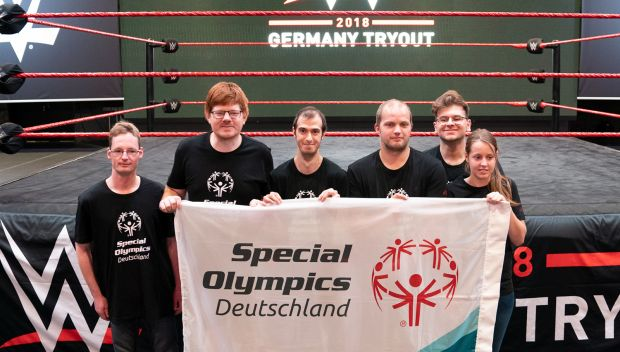 WWE Superstars host Special Olympics athletes for a training session in Cologne, Germany: photos
