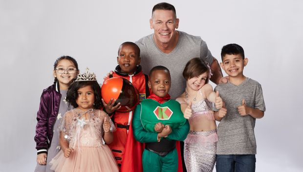 John Cena and the children from Make-A-Wish's new PSA: photos