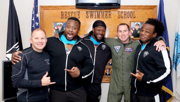 WWE Superstars visit Naval Station Jacksonville's Rescue Swimmer School