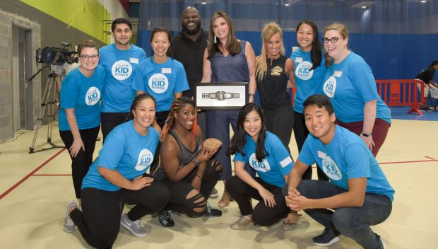 WWE Superstars attend the UNICEF Kid Power event during SummerSlam Week: photos