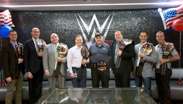 WWE honors U.S. Veteran employees at WWE HQ for Veterans Day: photos