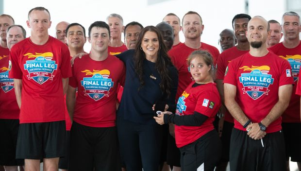 Stephanie McMahon helps kick off the Special Olympics 2019 World Games in Abu Dhabi: photos