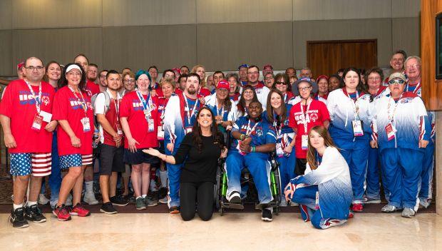 Stephanie McMahon celebrates Team USA at the Special Olympics 2019 World Games: photos
