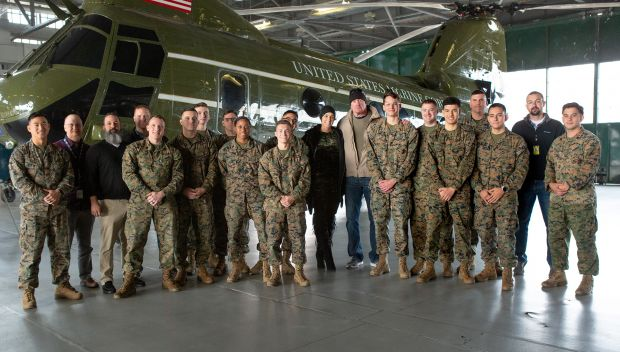 The Undertaker and Michelle McCool visit Marine Corps Air Facility Quantico: photos