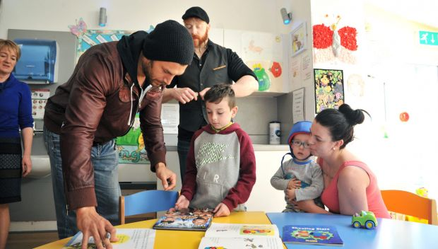 Fandango and Sheamus visit Our Lady's Children's Hospital in Dublin: photos